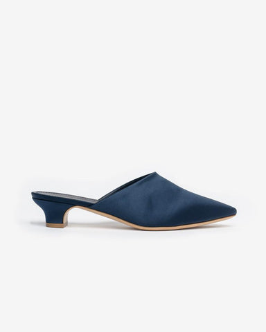 Elegant slide in Blue Silk by Mansur Gavriel at Mohawk General Store