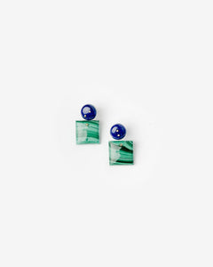 Mobile Earrings in Lapis/Malachite by Jessica Winzelberg at Mohawk General Store