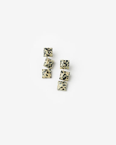 Mobile Earrings in Dalmation Stone by Jessica Winzelberg at Mohawk General Store