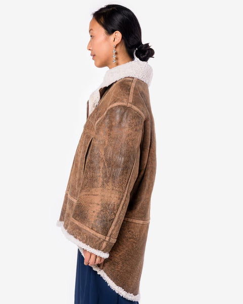 Sherpa Jacket in Brown by MM6 Maison Margiela at Mohawk General Store