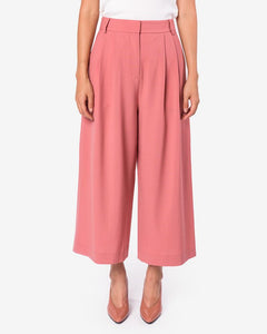 Tropical Wool Crop Pant in Blush Rose by Tibi at Mohawk General Store
