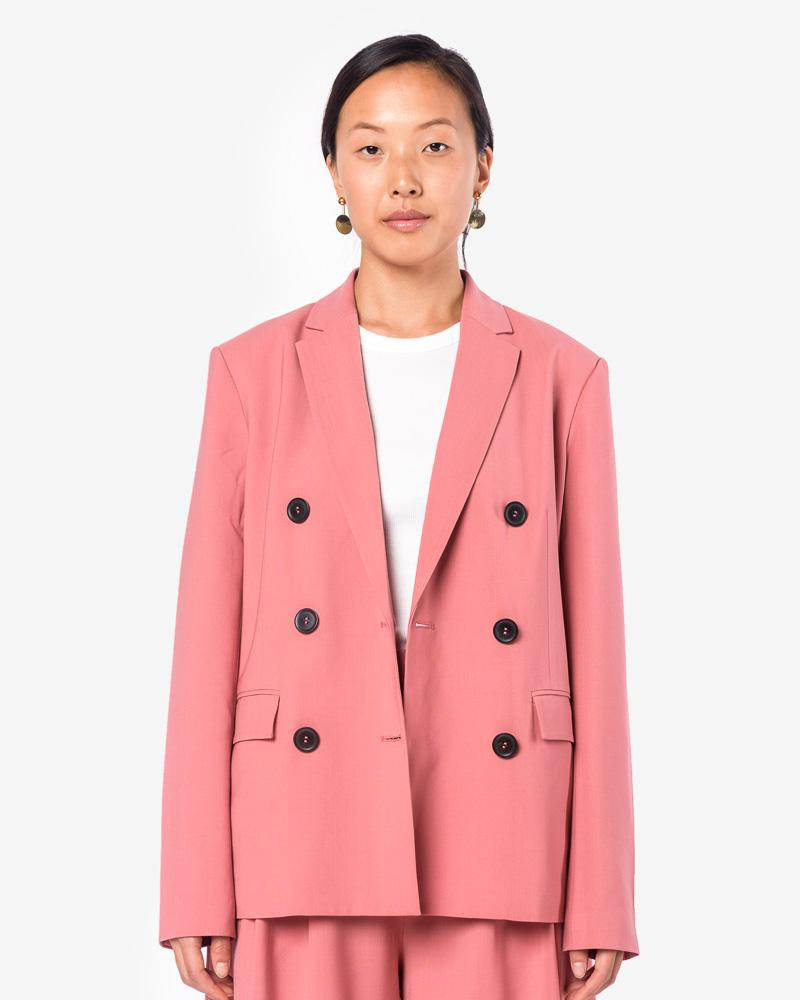 Tropical Wool Blazer in Blush Rose by Tibi at Mohawk General Store