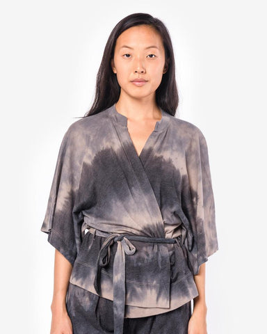 Cropped Kimono Wrap in Dusty Clay by Raquel Allegra at Mohawk General Store