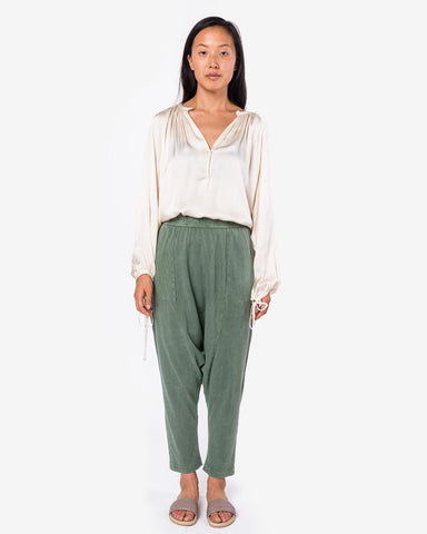 Cropped Slouchy Pant in Army by Raquel Allegra at Mohawk General Store