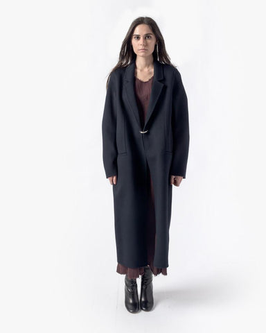 Foin Double Coat in Navy by Acne Studios Woman at Mohawk General Store - 1