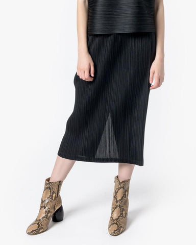 Pencil Skirt with Pockets in Black by Issey Miyake Pleats Please at Mohawk General Store - 1