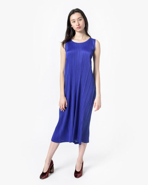 Long Dress in Cobalt by Issey Miyake Pleats Please at Mohawk General Store - 1