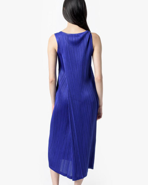 Long Dress in Cobalt by Issey Miyake Pleats Please at Mohawk General Store - 4