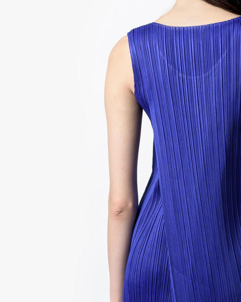 Long Dress in Cobalt by Issey Miyake Pleats Please at Mohawk General Store - 5