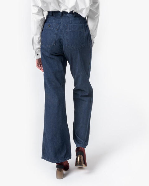 High-Waisted Denim Trouser by SMOCK Woman at Mohawk General Store - 4