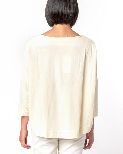 Boat Neck Shirt in Natural by SMOCK Woman at Mohawk General Store - 3