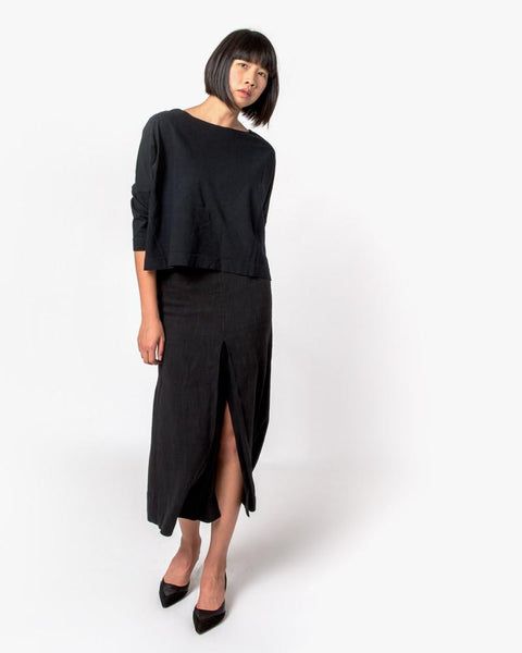 Boat Neck Shirt in Black by SMOCK Woman at Mohawk General Store - 2