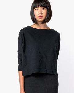 Boat Neck Shirt in Black by SMOCK Woman at Mohawk General Store - 1