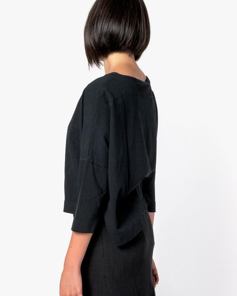 Boat Neck Shirt in Black by SMOCK Woman at Mohawk General Store - 3