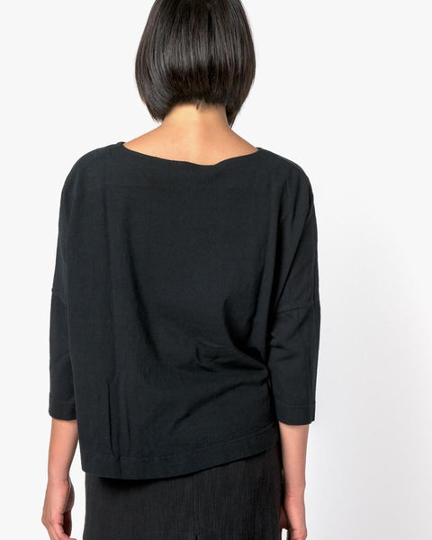 Boat Neck Shirt in Black by SMOCK Woman at Mohawk General Store - 4