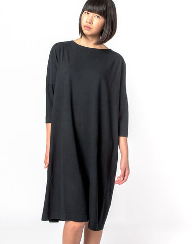 Tunic Dress in Black by SMOCK Woman at Mohawk General Store