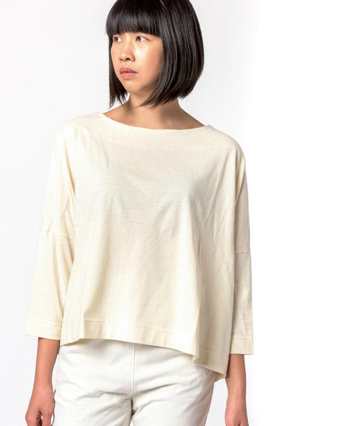 Boat Neck Shirt in Natural by SMOCK Woman at Mohawk General Store - 1