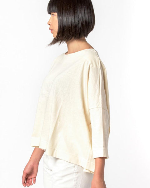 Boat Neck Shirt in Natural by SMOCK Woman at Mohawk General Store - 2