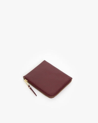 Zip Wallet in Burgundy by Comme des Garçons at Mohawk General Store - 1