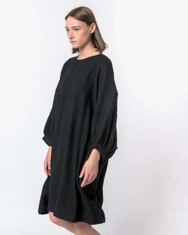 Nonchalant Wool Dress in Black by Henrik Vibskov at Mohawk General Store - 1