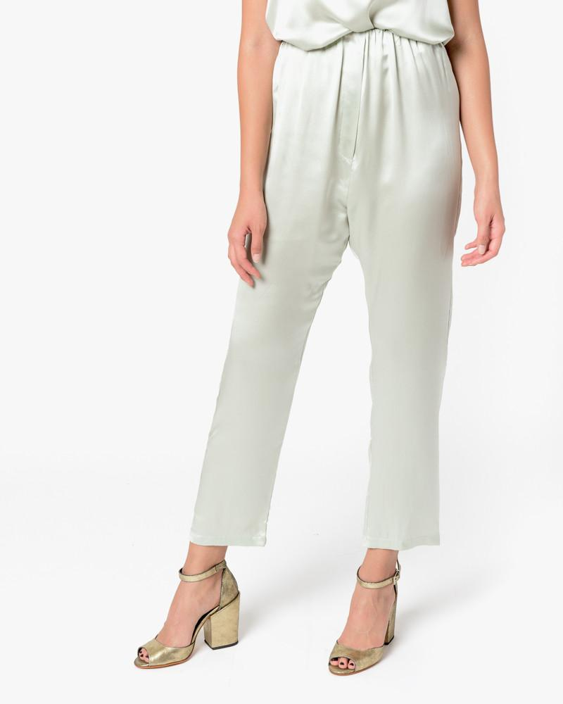 Azour Highwaist Pants in Dusty Blue by Baserange at Mohawk General Store - 1