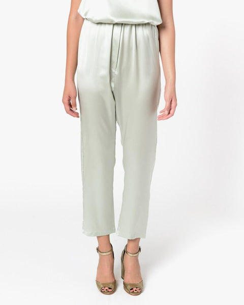 Azour Highwaist Pants in Dusty Blue by Baserange at Mohawk General Store - 2