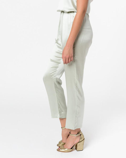 Azour Highwaist Pants in Dusty Blue by Baserange at Mohawk General Store - 3