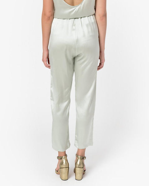 Azour Highwaist Pants in Dusty Blue by Baserange at Mohawk General Store - 4