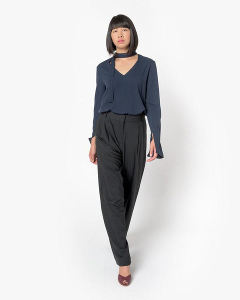 Wool Wide Leg Pant in Black by Tibi at Mohawk General Store - 3