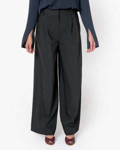 Wool Wide Leg Pant in Black by Tibi at Mohawk General Store - 1
