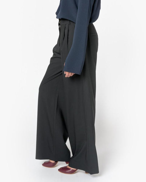 Wool Wide Leg Pant in Black by Tibi at Mohawk General Store - 4