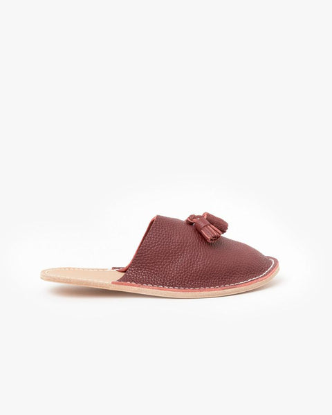 Leather Slippers in Red by Hender Scheme at Mohawk General Store - 1