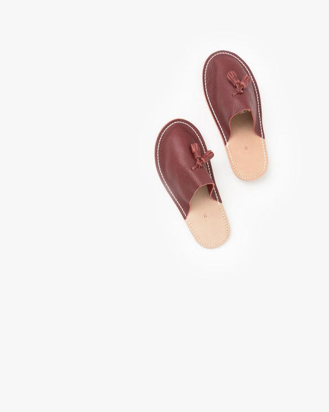 Leather Slippers in Red by Hender Scheme at Mohawk General Store - 4