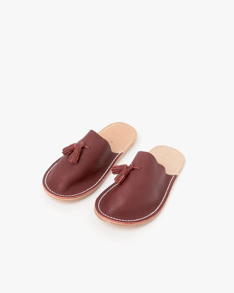 Leather Slippers in Red by Hender Scheme at Mohawk General Store - 2