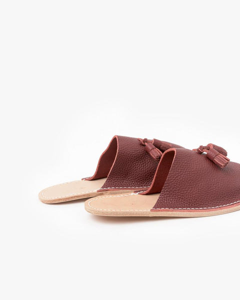 Leather Slippers in Red by Hender Scheme at Mohawk General Store - 5