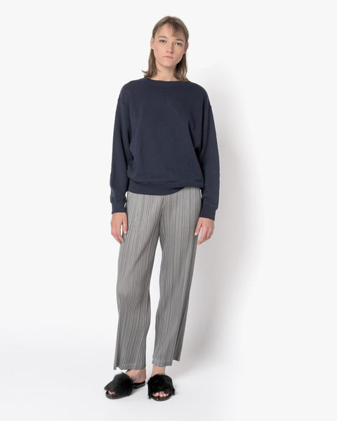 Crop Sweatshirt in Navy by SMOCK Woman at Mohawk General Store - 2