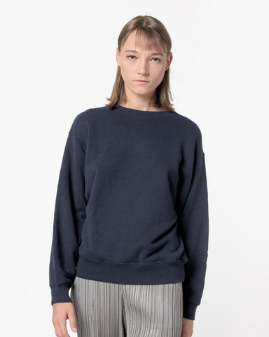 Crop Sweatshirt in Navy by SMOCK Woman at Mohawk General Store - 1
