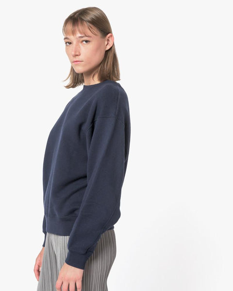 Crop Sweatshirt in Navy by SMOCK Woman at Mohawk General Store - 3