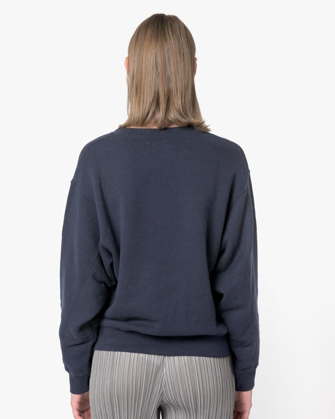 Crop Sweatshirt in Navy by SMOCK Woman at Mohawk General Store - 4