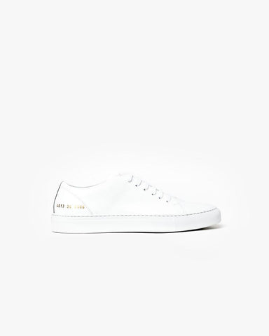 New Court Low in White Boxed Leather by Woman by Common Projects at Mohawk General Store