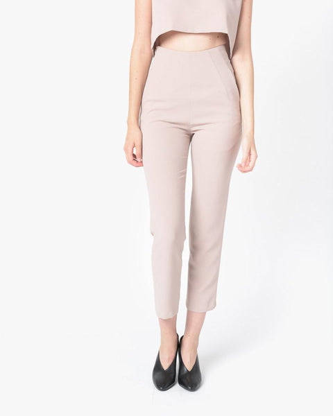 Sam High-Waisted Pocket Pant in Cream by Kaarem at Mohawk General Store