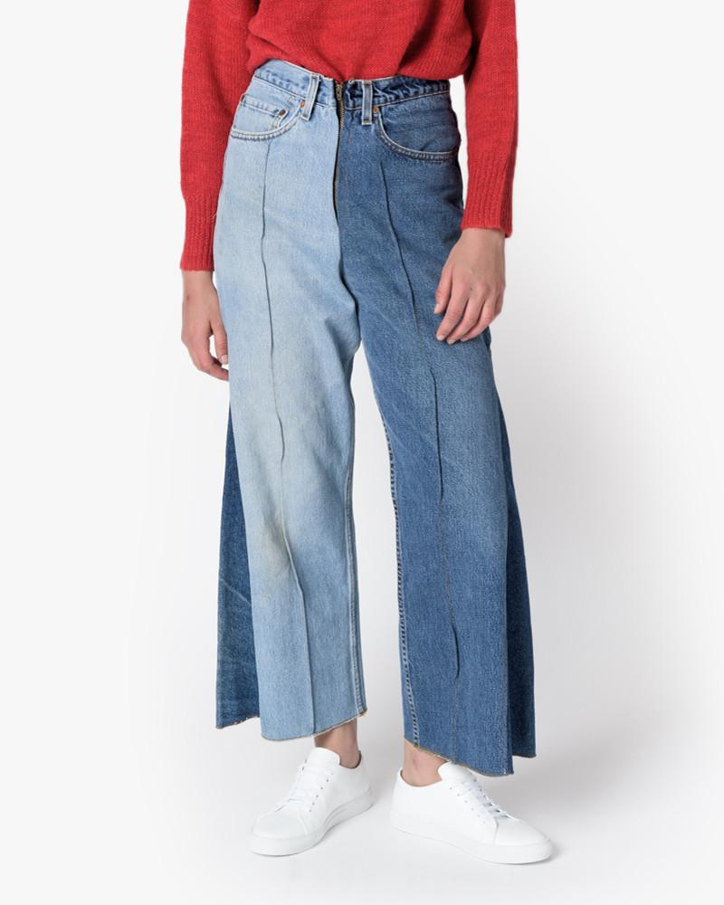 Wide Denim Slack in Blue by 77circa at Mohawk General Store