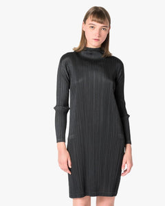 Mock Neck Dress in Black by Issey Miyake Pleats Please at Mohawk General Store