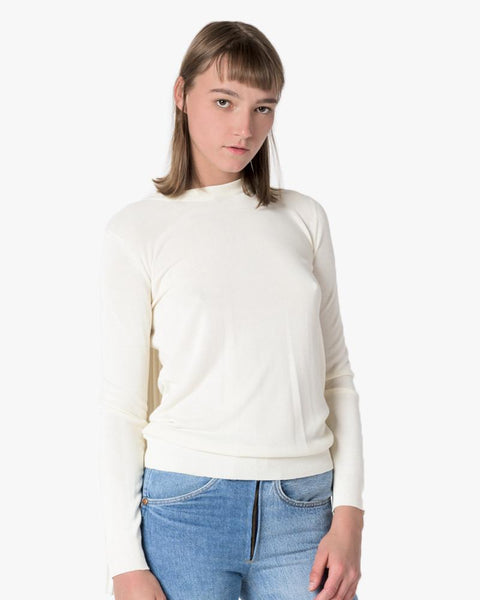 Pullover Sweater in Cream by MM6 Maison Margiela at Mohawk General Store