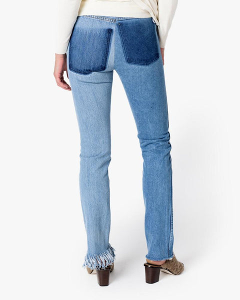 Fringe Slim Denim Pants in Blue by 77circa at Mohawk General Store