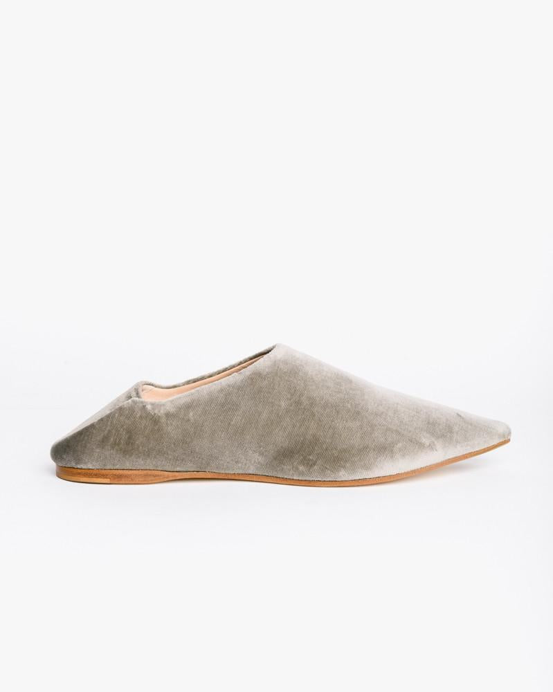 Amina Velvet in Stone Grey by Acne Studios Woman at Mohawk General Store
