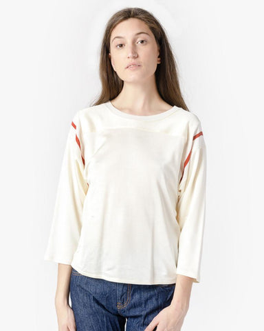 Ribbed Sleeve Sweater in Cream by MM6 Maison Margiela at Mohawk General Store