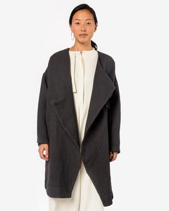 Dual Canvas Coat in Charcoal
