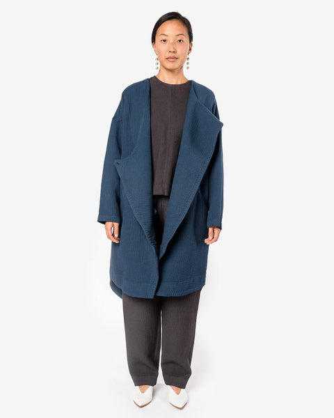 Dual Canvas Coat in Midnight