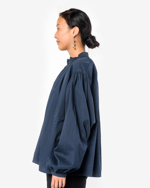 Balloon Sleeve Blouse in Midnight by Black Crane at Mohawk General Store
